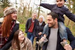 Multi Generation Family On Countryside Walk Royalty Free Stock Photo