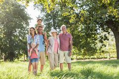 Multi-Generation Family Enjoying Walk In Beautiful Countryside Stock Photos