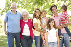 Multi-generation family in park Stock Photography
