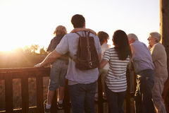 Multi Generation Family Standing On Outdoor Observation Deck Stock Images