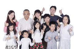 Multi generation family thumbs up Stock Image