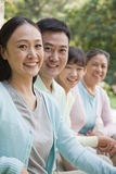 Multi generational family portrait, outdoors Beijing Royalty Free Stock Photo