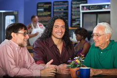 Multi Generational Group in Cafe Stock Image