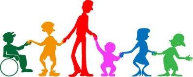 Multi-Generations-Afamilie Lizenzfreie Stockbilder