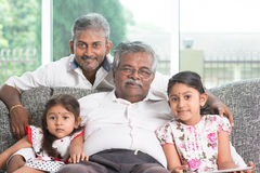 Multi generations family Stock Image