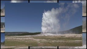 Multi Geyser Royalty Free Stock Photography