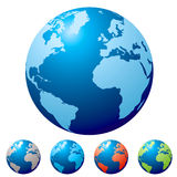 Multi globe Stock Photography