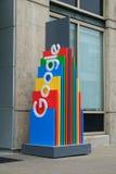 Multi Google colorato firma immagine stock