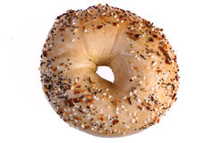 Multi-grain bagel Stock Photo