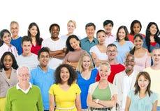 Multi gruppo etnico di gente immagine stock libera da diritti