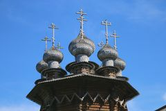 Multi-headed Church of the Intercession of the virgin in Kizhi Museum-reserve. In Karelia Russia royalty free stock photos