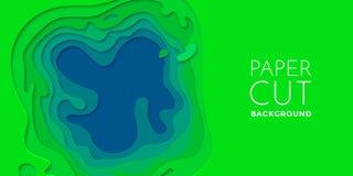 Multi het effect van kleurenlagen papercut 3D document van de besnoeiings vectorkunst textuur als achtergrond Royalty-vrije Stock Foto