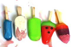 Multi ice pop royalty free stock images