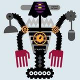 Multi ilustração do robô do braço ilustração stock