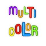 Multi kleur in glanzende 3d doopvonten Stock Afbeelding