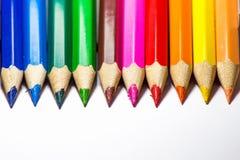 Multi kleurenpotlood Stock Afbeeldingen