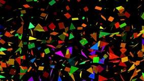 Multi laço abstrato colorido escasso do fundo do mosaico ilustração stock