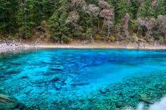 Multi lago da cor, Jiuzhaigou Fotos de Stock