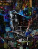 Multi Layered abstract. Composition. Human elements were created with 3D software and are not from any actual human likenesses Royalty Free Stock Images