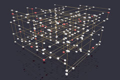 Multi layered network. Abstract rendering of a symbolic multilayered network Royalty Free Stock Photo