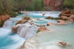 Multi-layered pool of Havasu Falls. Supai, Arizona, USA stock photography