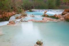 Multi-layered pool of Havasu Falls Stock Image