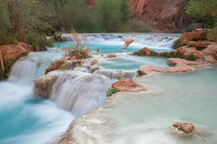 Free Multi-layered Pool Of Havasu Falls Stock Photography - 69959502