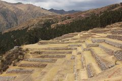 The layered terraces at Pisac royalty free stock photography