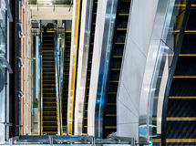 Multi-layers escalator in shopping mall. Miles stone and steps of life. Multi-layers escalator in shopping mall Stock Image