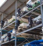 Multi-Level Boat Storage Royalty Free Stock Image
