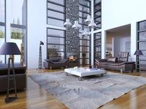 Multi-level living room trend Stock Image