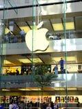 Apple Flagship Store, George Street Sydney, Australia. The multi level modern Apple flagship store or shop in George Street, Sydney central business district Stock Photography