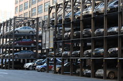 Multi Level Parking System in Manhattan. New York City, USA Stock Images
