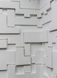 Multi-levels wall made by cement rendering Stock Photos