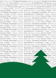 Multi-Lingual Textual Christmas Tree Royalty Free Stock Images