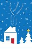 Multi-Lingual Textual holiday card Stock Photo