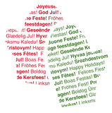 Multi-Lingual Textual Holiday Mittens Royalty Free Stock Photos