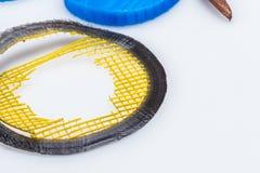 Multi materiële 3D druk flexibele en stijve plastieken Stock Afbeeldingen