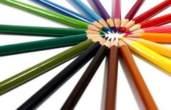 Multi matite colorate immagine stock libera da diritti