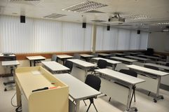 Multi-media classroom. Empty multi-media classroom Royalty Free Stock Image