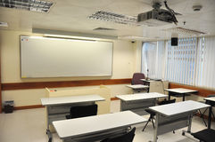 Multi-media classroom. Empty multi-media classroom Stock Image