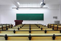 Multi-media classroom. Empty multi-media classroom Stock Images