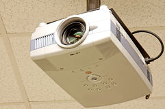 Multi-media projector. Close-up of a multi-media projector mounted on the ceiling of a classroom Stock Photo