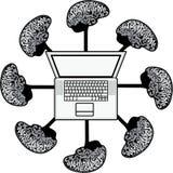 Multi-mind computer Royalty Free Stock Image