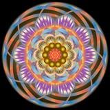 Multi modello d'annata orientale colorato con gli elementi floreali di arabesque, mandala royalty illustrazione gratis