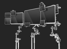 Multi-monitores Ilustração Stock