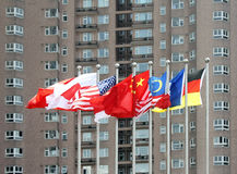 Multi-nation flags Stock Images