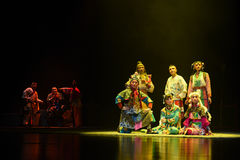 """Multi national fusion-Children's Beijing Opera""""Yue teenager"""". The story happened in the history of the Northern Song Dynasty, the people in the stock images"""