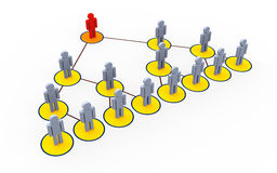 Multi niveau marketing stock illustratie