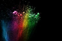 Multi nuvola colorata della spruzzata della polvere Immagini Stock Libere da Diritti